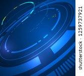 tech sci fi futuristic design... | Shutterstock .eps vector #1259737921