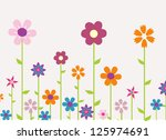 colorful spring flowers vector... | Shutterstock .eps vector #125974691
