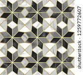 luxury marble mosaic star tile...   Shutterstock .eps vector #1259772607