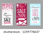 vector valentines day sale... | Shutterstock .eps vector #1259778637