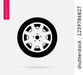 car wheel icon  logo on white... | Shutterstock .eps vector #1259786827