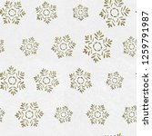 gold snowflakes on white... | Shutterstock . vector #1259791987