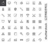 education elements outline... | Shutterstock .eps vector #1259805901
