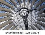 glass and steel roof