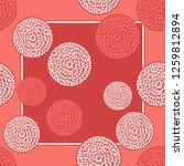 fabric print  scarf  shawl ... | Shutterstock .eps vector #1259812894