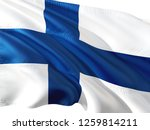 flag of finland waving in the... | Shutterstock . vector #1259814211