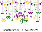 mardi gras icons colored frame... | Shutterstock .eps vector #1259820091