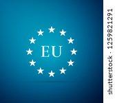 flag of european union icon... | Shutterstock .eps vector #1259821291