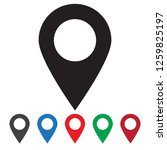 maps pin. location map icon.... | Shutterstock .eps vector #1259825197