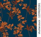 beautiful seamless floral...   Shutterstock . vector #1259825281