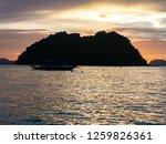 beautiful sunset on the... | Shutterstock . vector #1259826361