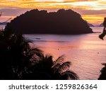 beautiful sunset on the... | Shutterstock . vector #1259826364