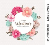 happy valentine's day greetings ... | Shutterstock .eps vector #1259829811