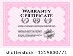 pink warranty template. cordial ... | Shutterstock .eps vector #1259830771