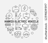 hybrid electric vehicle round... | Shutterstock .eps vector #1259839597