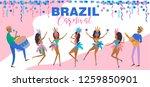 brazil carnival poster template ...   Shutterstock .eps vector #1259850901