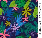 seamless pattern with tropical...   Shutterstock .eps vector #1259850934