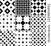a set of 9 seamless geometric... | Shutterstock .eps vector #1259854951