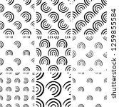 black and white geometric... | Shutterstock .eps vector #1259855584