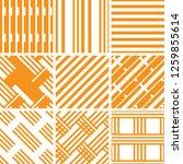 a set of 9 seamless geometric... | Shutterstock .eps vector #1259855614