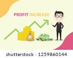 profit increase with business... | Shutterstock .eps vector #1259860144