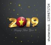 2019 happy new year vietnam...   Shutterstock .eps vector #1259871724