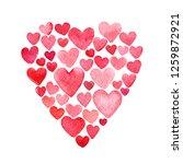 valentine day hearts card... | Shutterstock . vector #1259872921