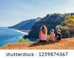 family vacation lifestyle.... | Shutterstock . vector #1259874367
