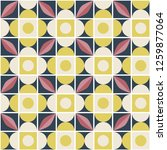 seamless retro pattern in... | Shutterstock .eps vector #1259877064