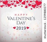happy valentines day typography ... | Shutterstock .eps vector #1259880277