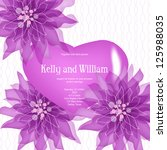 invitation or wedding card with ... | Shutterstock .eps vector #125988035