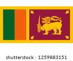 sri lanka flag vector  | Shutterstock .eps vector #1259883151