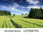 Wind Turbine Between Fields