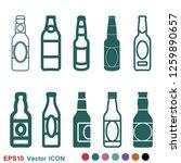 beer bottle icon vector...   Shutterstock .eps vector #1259890657