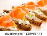 Bread With Smoked Salmon And...