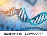 3d illustration of dna molecule.... | Shutterstock . vector #1259900797