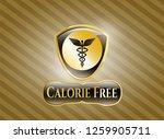 shiny emblem with medicine... | Shutterstock .eps vector #1259905711