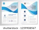 template vector design for... | Shutterstock .eps vector #1259908567