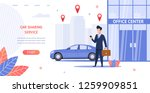 banner illustration renting car ... | Shutterstock .eps vector #1259909851