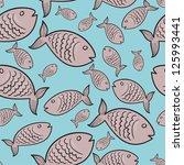fish seamless pattern. vector... | Shutterstock .eps vector #125993441