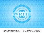 write sky blue water badge...   Shutterstock .eps vector #1259936407