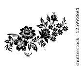 flower motif design sketch | Shutterstock . vector #125993861