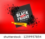 black friday sale abstract... | Shutterstock .eps vector #1259957854