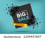 big sale abstract banner... | Shutterstock .eps vector #1259957857