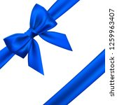 realistic blue bow. element for ...   Shutterstock .eps vector #1259963407