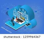 isometric flat design.concept... | Shutterstock .eps vector #1259964367