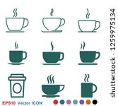 coffee cup icon. coffee drink...   Shutterstock .eps vector #1259975134