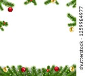 xmas garlands with fir tree and ... | Shutterstock .eps vector #1259984977