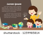 education and learning family... | Shutterstock .eps vector #1259985814