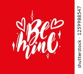 be mine phrase. vector... | Shutterstock .eps vector #1259988547